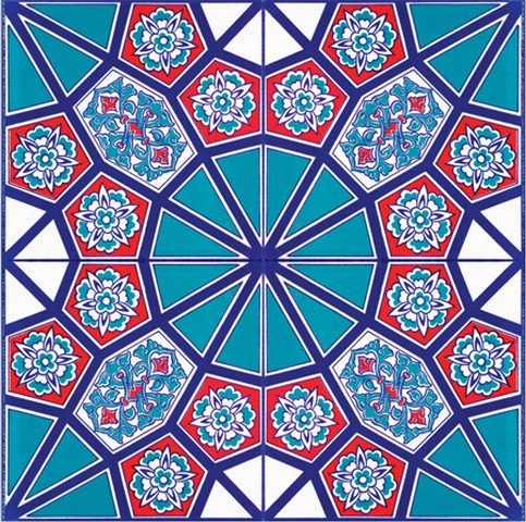 Ceramic Square Tiles Iznik Design Tiles Ckm Carpets